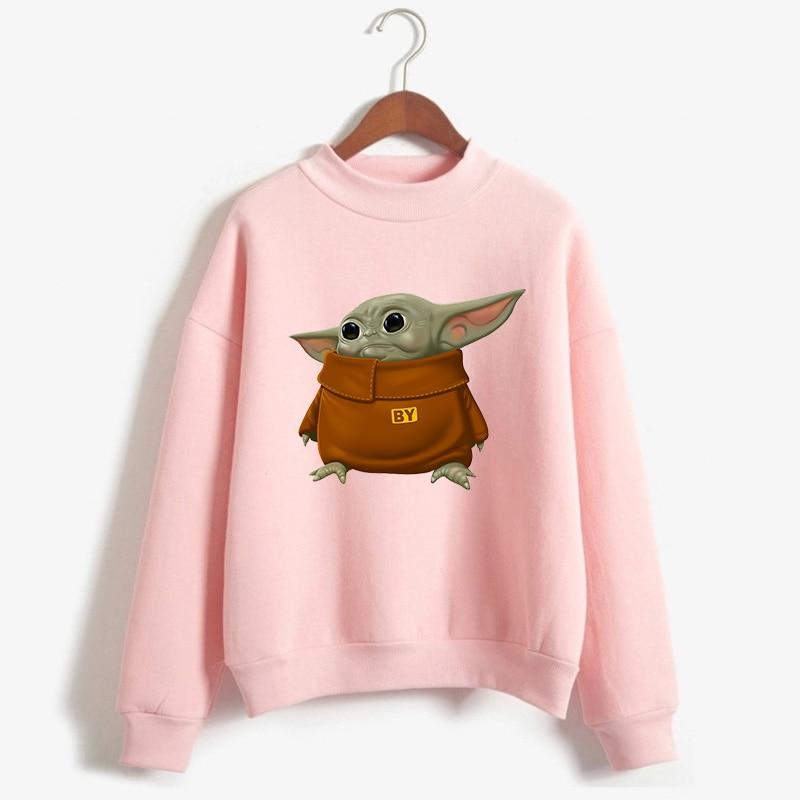 Mandalorian Sweatshirt Women Star Wars Baby Yoda Space Opera TV Series Hoodies Harajuku Science Fiction Movies Female Clothes