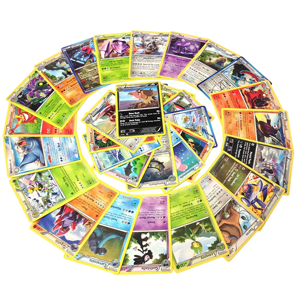 600Pcs Pokemon TCG Random Cards From Many Series (Assorted Lot With No Duplicates) Game Card Collection