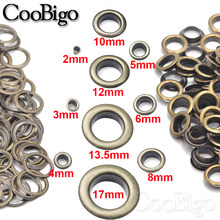 100sets Metal Antique Brass Eyelets with Grommet for DIY Scrapbooking Cap Leathercraft Shoe Belt Bag Tag Clothes Accessories