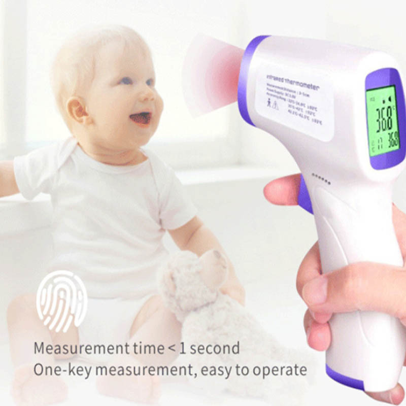 Baby Adult Forehead infrared digital thermometer Non-contact Handheld Infrared Portable Body Thermometer with LCD for baby adult