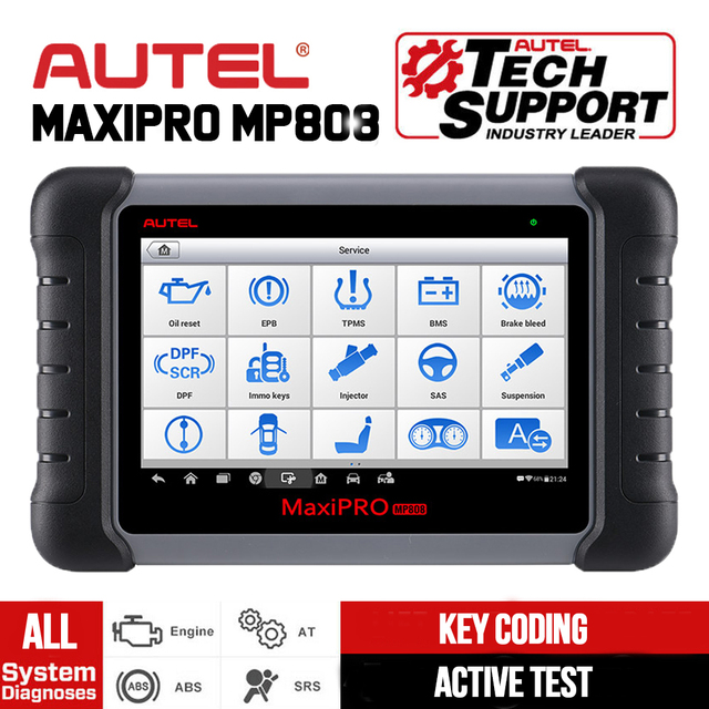 Autel MaxiPRO MP808 Car Diagnostic Scanner All System Auto Diagnostics Scan Tool Automotive Diagnosis Autoscanner PK DS808 MS906