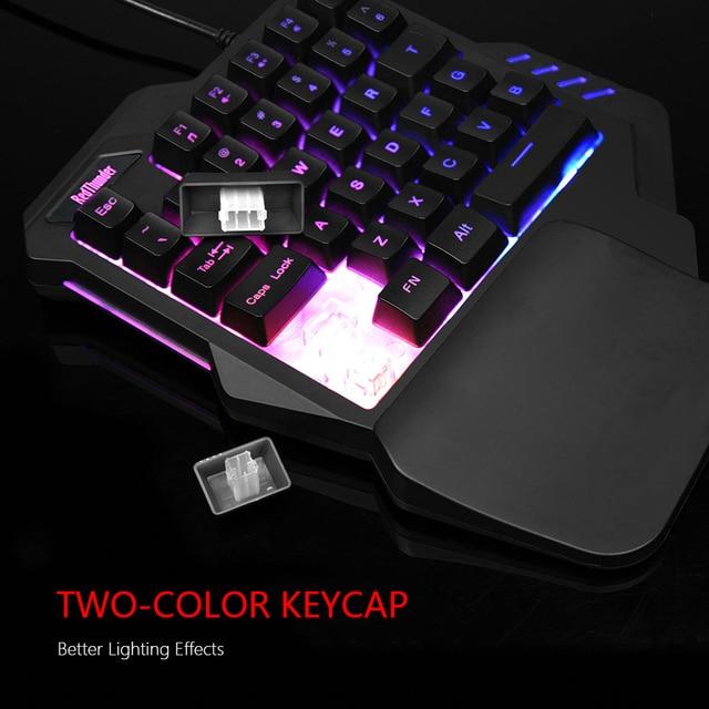 RedThunder One-Handed Gaming Keyboard RGB Backlit Portable Mini Gaming Keypad Ergonomic Game Controller for PC PS4 Xbox Gamer 6