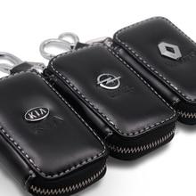 Car Keychain Wallet Car-Accessories Skoda Chevrolet Genuine-Leather Fiat Lexus Volvo