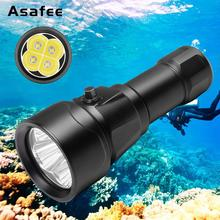 Asafee Underwater Diving Flashlight LED 2500 Lumens Cree XM-L L2 LED 150m Underwater Professional Scuba Diving Lights LED цена в Москве и Питере