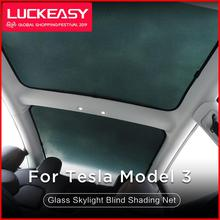 LUCKEASY for Tesla Model 3  Glass Roof Sunshade Car Skylight Blind Shading Net