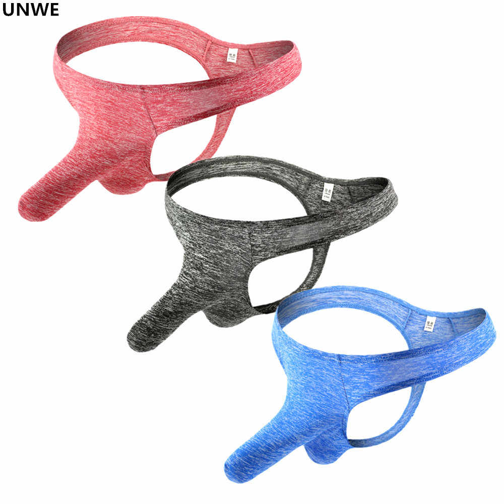 UNWE Long Sleeve Penis Pouch Thong Sexy Mens Underwear Gay Briefs Breathable Low Rise U Convex Sexy Elephant Nose Underwear