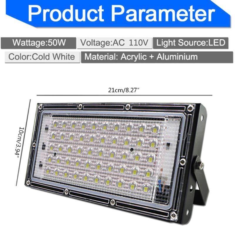 LED Floodlight Outdoor Spotlight 50W Wall Washer Lamp Reflector IP65 110V C63B