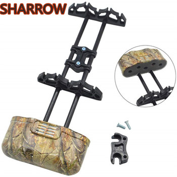 Archery Arrow Quiver Quick Release Arrow Rack Holder 5-Arrow Portable Arrow Case For Compound Bow Hunting Shooting Accessories cowhide leather shoulder back large capacity quiver arrow holder for compound recurve bow shooting hunting archery arrow quiver