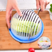 Creative Salad Cutting Bowl Vegetable Kitchen Accessories Machine Drain Fruit Multifunctional Tools