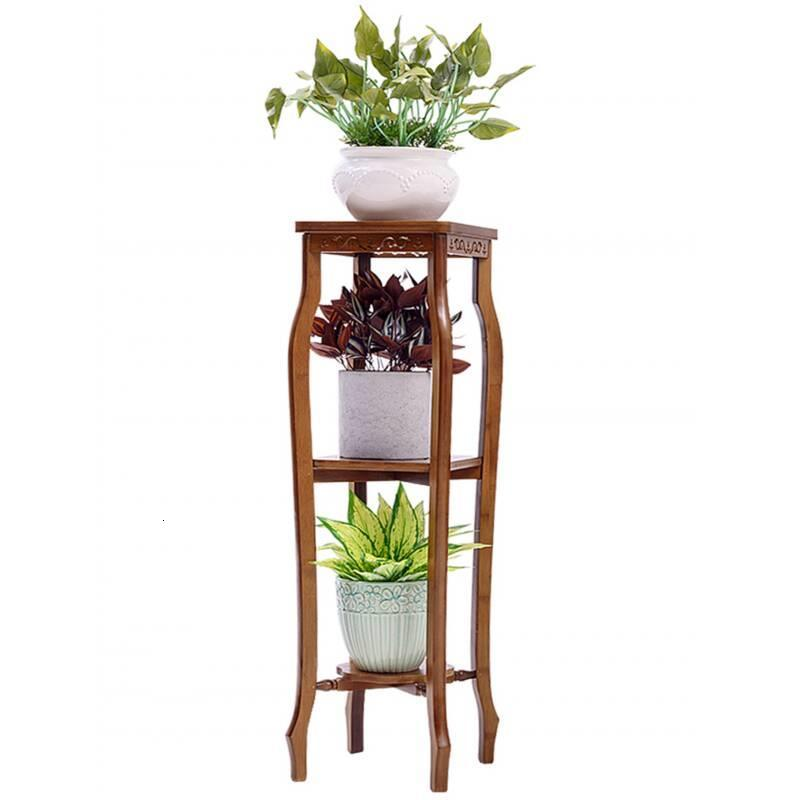 For Suporte Flores Plantenrekken Indoor Pot Wood Mueble Para Plantas Rak Bunga Balcony Plant Rack Shelf Outdoor Flower Stand
