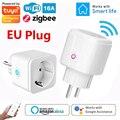 ZigBee Wi-Fi Smart Plug 16A ЕС розетка Tuya Smart Life APP монитор контроля потребляемой мощности таймер Голосовое управление Поддержка Alexa Google домашний помощн...