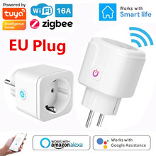 ZigBee Wifi Smart Plug 16A EU Socket Tuya Smart Life APP Power Monitor Timer Voice Control Support Alexa Google Home Assistant