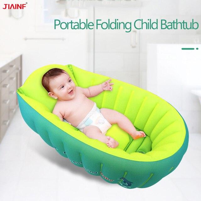 0-3 Years Old Baby Bath Tub Inflatable Bathtubs Baby Folding Bathtub Flower Bath Tubs Baby Goods for the Newborn 2