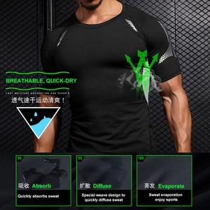 Image 5 - Ropa Deportiva de compresión para hombre, conjuntos de secado rápido para correr, corredores deportivos, entrenamiento, gimnasio, Fitness, conjunto para correr