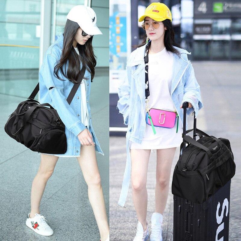 Gym Bag Women's Sports Bag Fashion Man Korean-style Wet And Dry Separation Training Package Large-Volume Shou Ti Wang Red Short