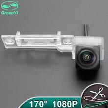 Hd completo ahd 1080p lente fisheye veículo reverso backup câmera de visão traseira para vw transporter t5 t30 caddy passat b5 touran jetta