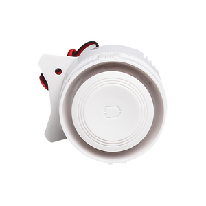 Image 2 - White 120DB DC12V Mini Wired Siren Horn for Wireless Home Alarm Security System Alarm Accessories 59cm Line length