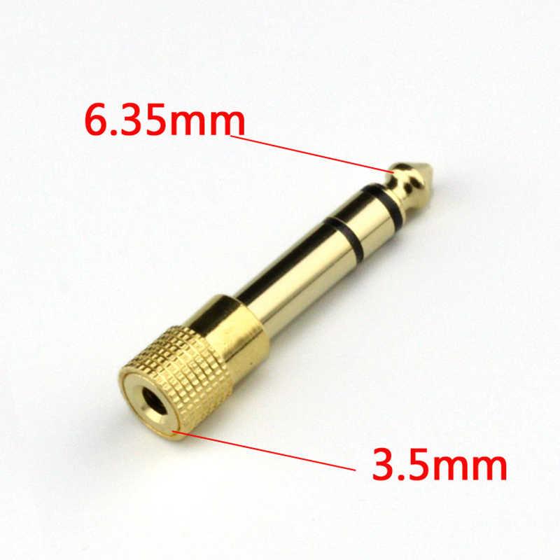 New jack 3.5 milímetros Feminino Jack De 6.5 milímetros Masculino Plugue para fone de Ouvido Estéreo Fone De Ouvido Microfone Sem Fio Bluetooth Adaptador de Áudio Do Carro conversor