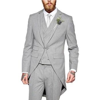 Man Suits 3 Pieces Formal Slim Jacket Shawl Lapel  Suit Tuxedos  Groom Coat Suits For Wedding Dinner Dress(Jacket+Pants+Vest) man suits 2 pieces formal slim jacket shawl lapel suit tuxedos groom coat fashion suits for wedding dinner dress jacket pants