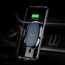 حامل هاتف خلوي للسيارة ، شاحن لاسلكي QI 10W ، حامل هاتف ذكي لأجهزة Samsung و Xiaomi مع شبكة تهوية