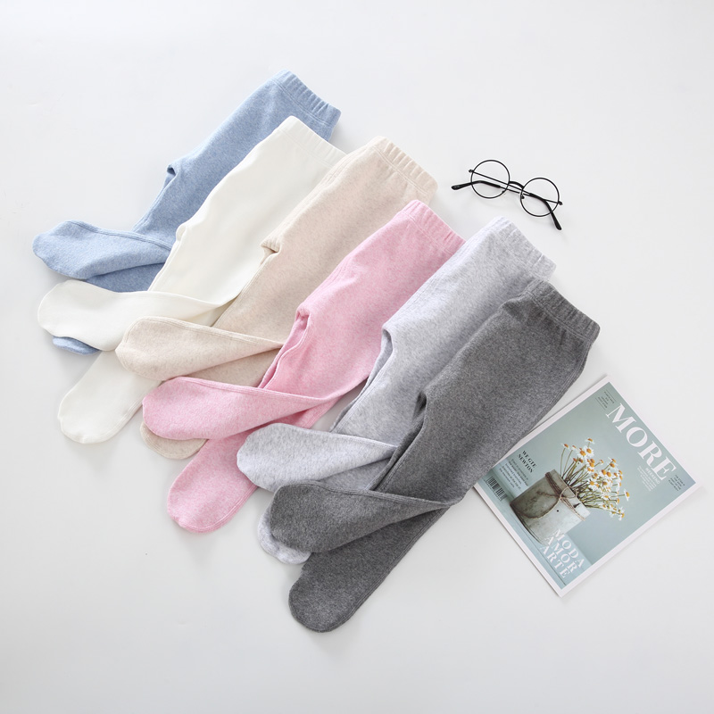 Baby Clothes Footies Pants Cotton Leggings High Elasticity Tights Baby Clothes Spring And Autumn High Waist Baby Trousers