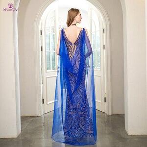 Image 2 - Vestido de fiesta de sirena con perlas de cristal, brillante, Dubái