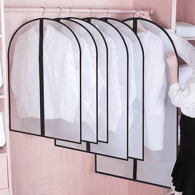 CellDeal 5/10PCS Clothes Hanging Garment Dress Clothes Suit Coat Dust Cover Storage Bag Pouch Case Organizer Wardrobe Hanging 2