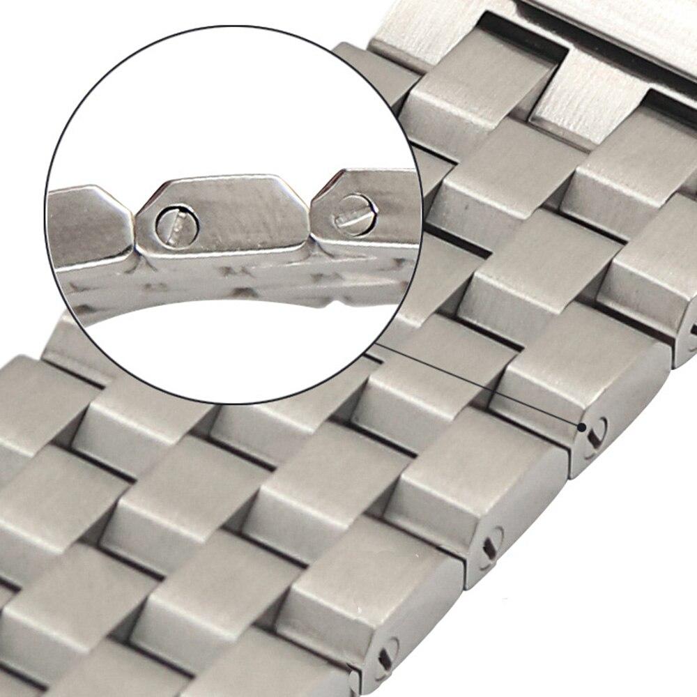 22mm 24mm trapézio-shap pulseira de relógio de