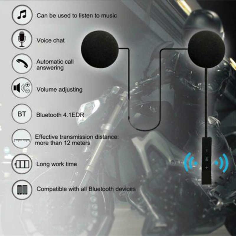 Casque de contrôle casque Bluetooth noir HI-FI écouteur moto remplacement mains libres musique