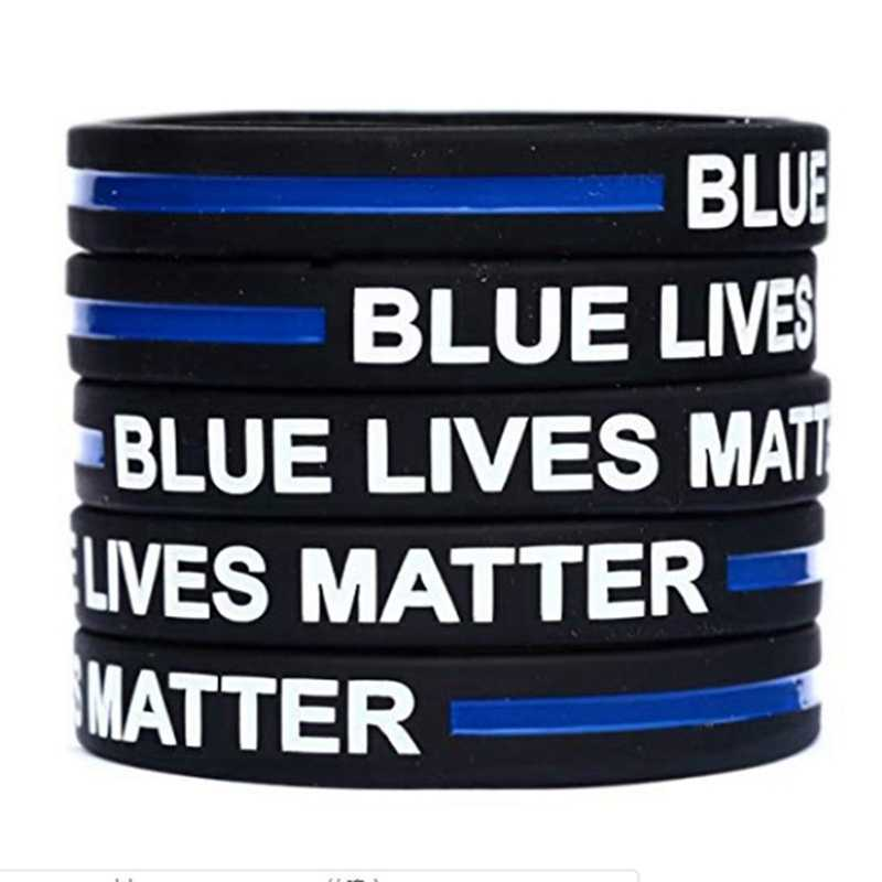 Police Lives Matter Thin Blue Line Paracord Survival Logo Bracelet Metal Clasp M for sale online