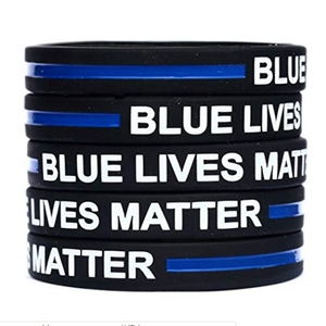 2020 FASHION! Style Police Lives Matter Wristbands Black Thin Blue Line Silicone Rubber Bracelets Wholesale