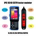 IPC 9310 POE wifi 4 3 ''5 в одном тачскрин CCTV тестер для IPC/аналоговой камеры  IPC 1080 P  AHD  CVI  TVI  BNC сетевой кабельный тестер