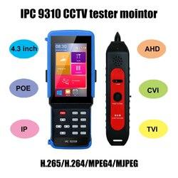 IPC 9310 POE  wifi 4.3'' 5 in one Touchscreen CCTV Tester for IPC/Analog Camera,IPC 1080P, AHD,CVI,TVI,BNC Network Cable Tester