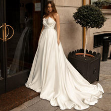 Booma 2020 атласные свадебные платья с коротким шлейфом без