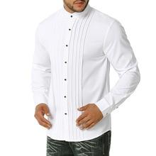 Shirts Man Fitness Clothes-Size Casual-Dress Mens Fashion Masculina Camiseta Tuxedo S-2XL