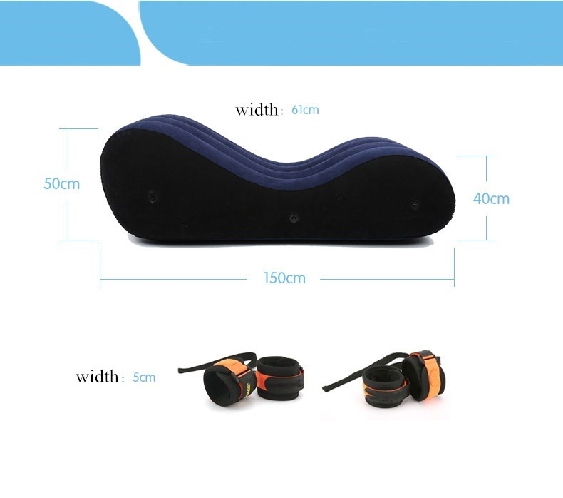 Bean-Bags Figures Chaise Home-Furniture Erotic Inflatable Lovers Sofa-Bed Floor Action--Toy