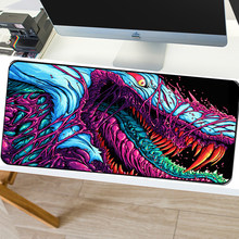 SOVAWIN 900x400mm Gaming mouse pad XL Hyper Beast Locking Edge Non-slip MousePad Mat CS GO Slip Natural for for PC Computer(China)