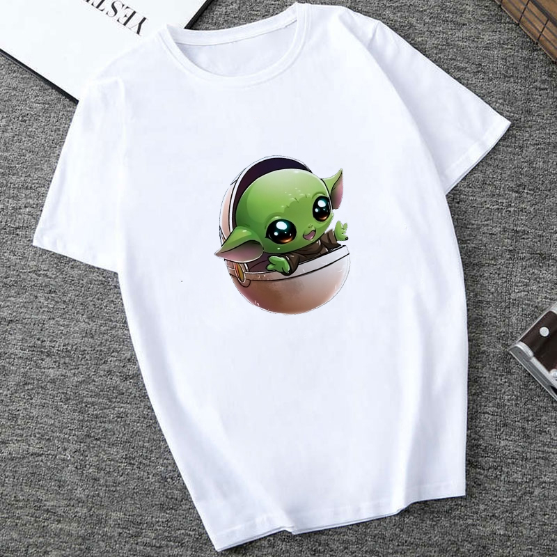 Showtly   The Mandalorian Baby Yoda Sweatshirt Men/Women Star Wars TV Series T Shirt 90S Science Fiction Movies Tee Tops
