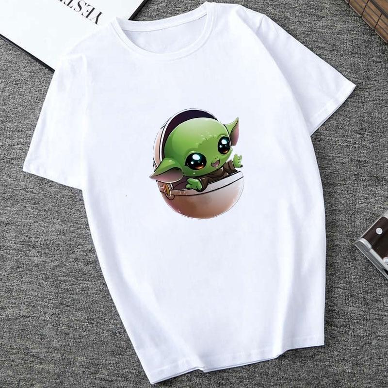Showtly   The Mandalorian Baby Yoda Sweatshirt Men/Women Star Wars TV Series T Shirt 90S Science Fiction Movies Tee Tops