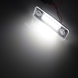 Image 4 - 2X Xe Số LED Biển Đèn Cho Skoda Octavia 2 Căng Da Mặt 2009  2012 Facelifted 2003 2012 Roomster 5J 2006 2010
