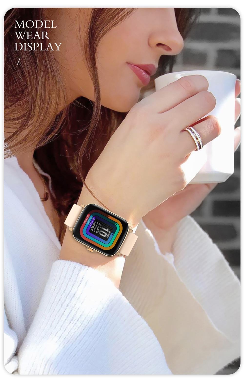 H66da98cecee442f79dc4bfcc29ae558b8 COLMI P8 Plus 1.69 inch 2021 Smart Watch Men Full Touch Fitness Tracker IP67 waterproof Women GTS 2 Smartwatch for Xiaomi phone