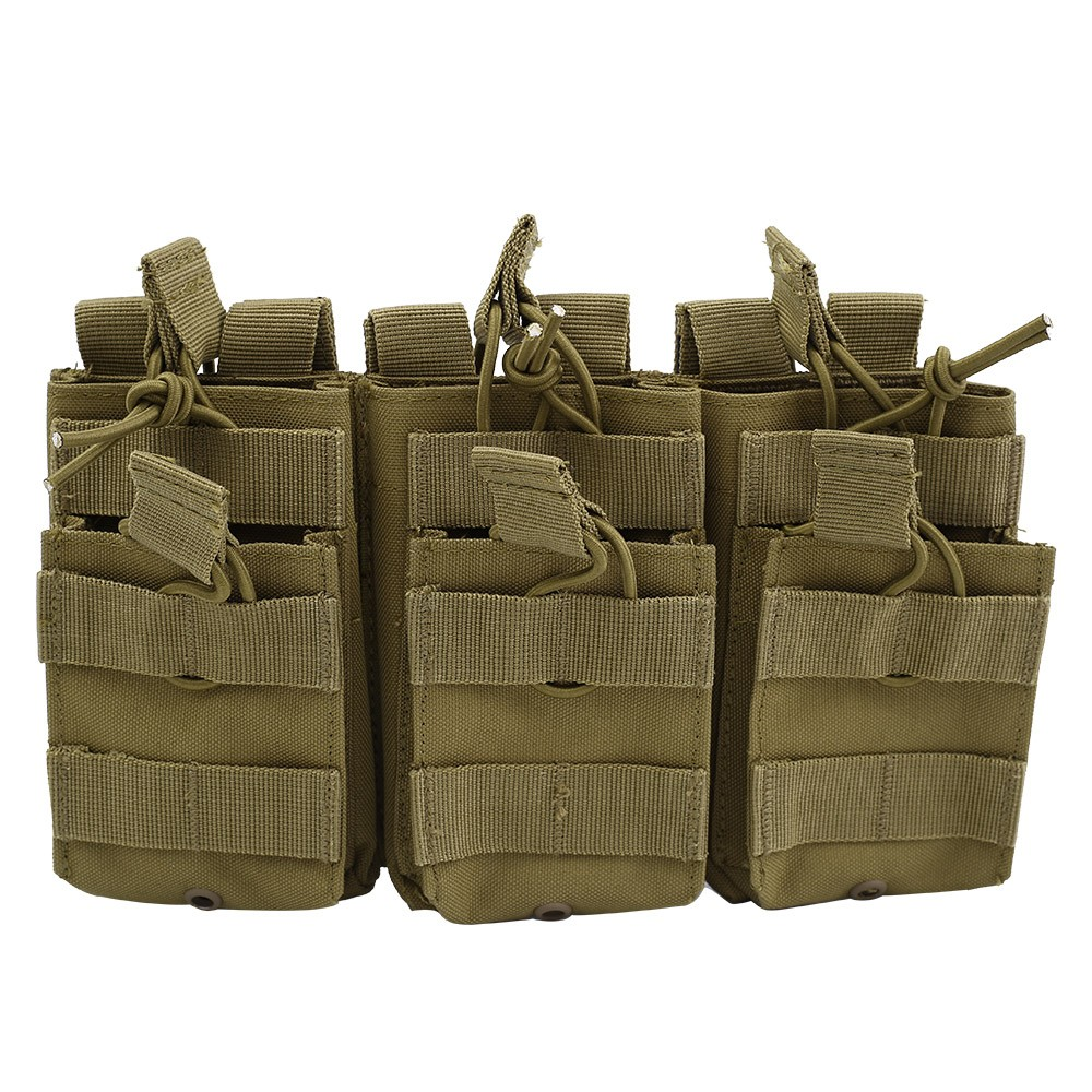 New Tactical Molle Magazine Pouch Double-Layer Triple Paintball Equipment Hunting Accessories M4 AR AK Mag Bag Cartridge Pouch image