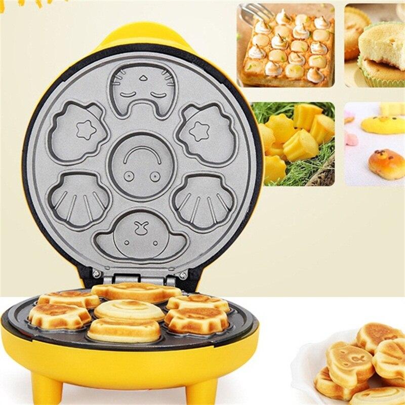 1000W ue/royaume-uni Plug gaufre électrique fabricant de gâteau antiadhésif bulle oeuf gâteau petit déjeuner gaufre pain Machine four Pan Machine