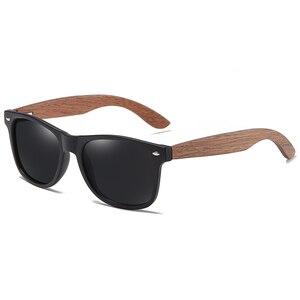 Image 2 - GM Brand Walnut Wooden Polarized Mens Sunglasses Square Frame Sun glasses Women Sun glasses Male Oculos de sol Masculino S7061h