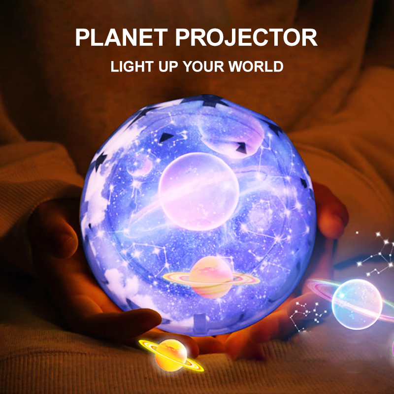 2020 New Dropship LED Star Projector Night Lights For Rotate Earth and Moon Lamp As Children's Gifts For Kids Room Decoration