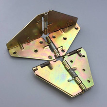 Free shipping 2pcs Dining table folding hinge, butterfly tabletop turning plate Furniture hinges