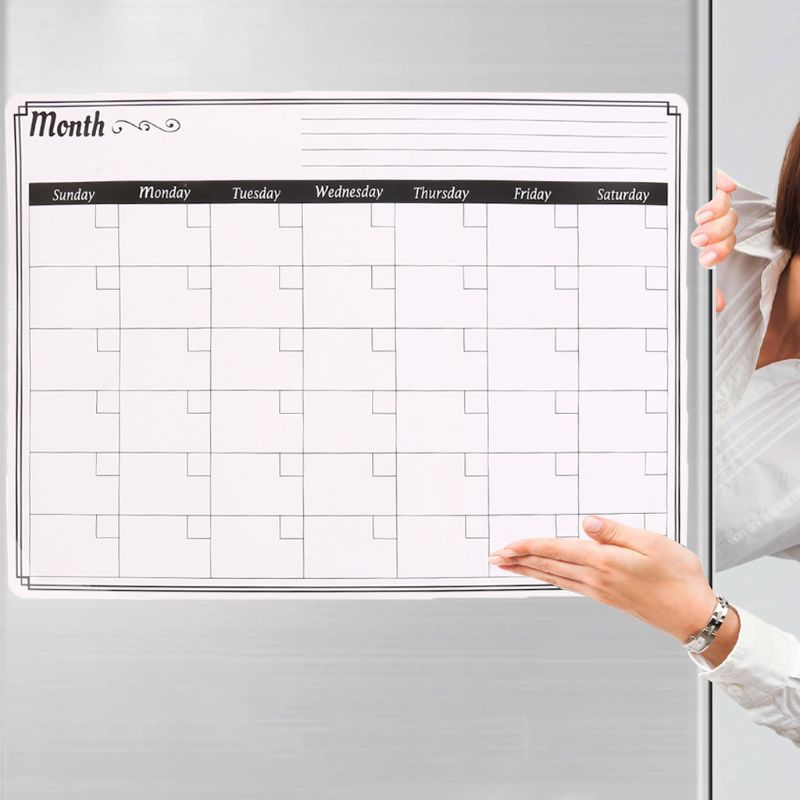 A3 Monthly Planner Magnetic Whiteboard Fridge Magnets Message Board Remind Memo