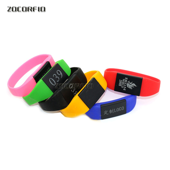 Silicone Rewritable 13.56Mhz UID Changeable MF 1K S50 NFC Bracelet RFID Wristband - discount item  5% OFF Access Control