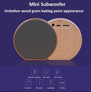 Image 5 - Hạt Gỗ Bluetooth Hỗ Trợ Thẻ TF Mini Di Động Loa Siêu Trầm Loa Không Dây Hỗ Trợ Âm Thanh Aux Trong Tay Và Bàn Tay Gọi Miễn Phí