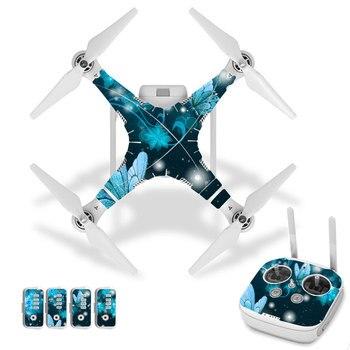 Pegatina de piel de vinilo Estilo mariposa para Dron DJI Phantom 3 y mando a distancia 0206